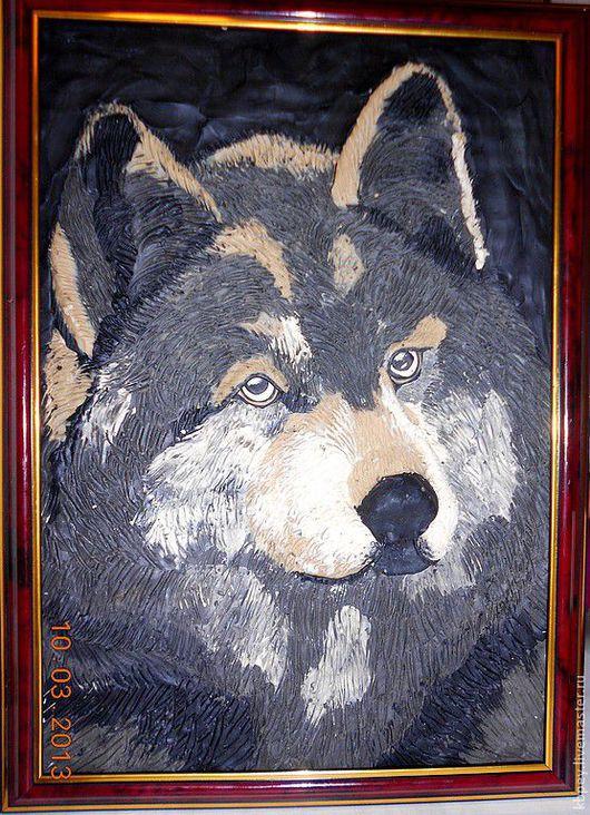 Животные ручной работы. Ярмарка Мастеров - ручная работа. Купить Животные. Картины из пластилина. Handmade. Черный, животные, акриловый лак