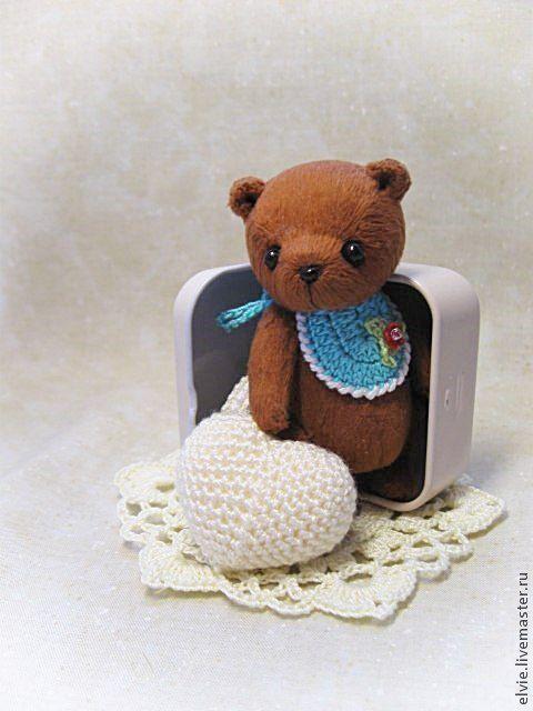 Мишки Тедди ручной работы. Ярмарка Мастеров - ручная работа. Купить Мишка Валентин.. Handmade. Коричневый, тедди