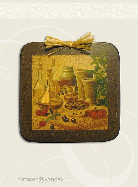 Декоративная посуда ручной работы. Ярмарка Мастеров - ручная работа. Купить Оливы. Handmade. Дерево, Кракелюрный лак
