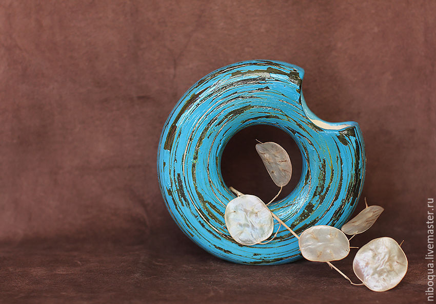 Ваза керамическая Голубая мечта