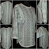 Одежда handmade. Livemaster - original item Associated from flax.Openwork tunic with cap sleeves.. Handmade.