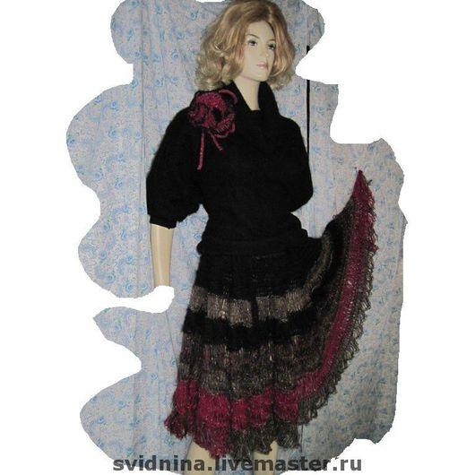 Юбки ручной работы. Ярмарка Мастеров - ручная работа. Купить юбка вязаная Краски осени. Handmade. Вязаная юбка