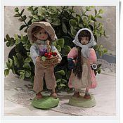"""Куклы и игрушки ручной работы. Ярмарка Мастеров - ручная работа ватные игрушки """"Варенька и Тимоша"""". Handmade."""
