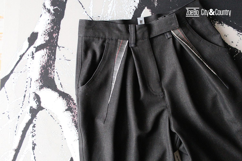 Брюки из джинсовой ткани с защипами, джинсы высокая талия, Джинсы, Санкт-Петербург,  Фото №1