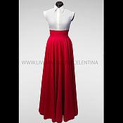 Одежда ручной работы. Ярмарка Мастеров - ручная работа Юбка в пол, длинная юбка, Красная юбка, юбка макси, юбка солнце. Handmade.