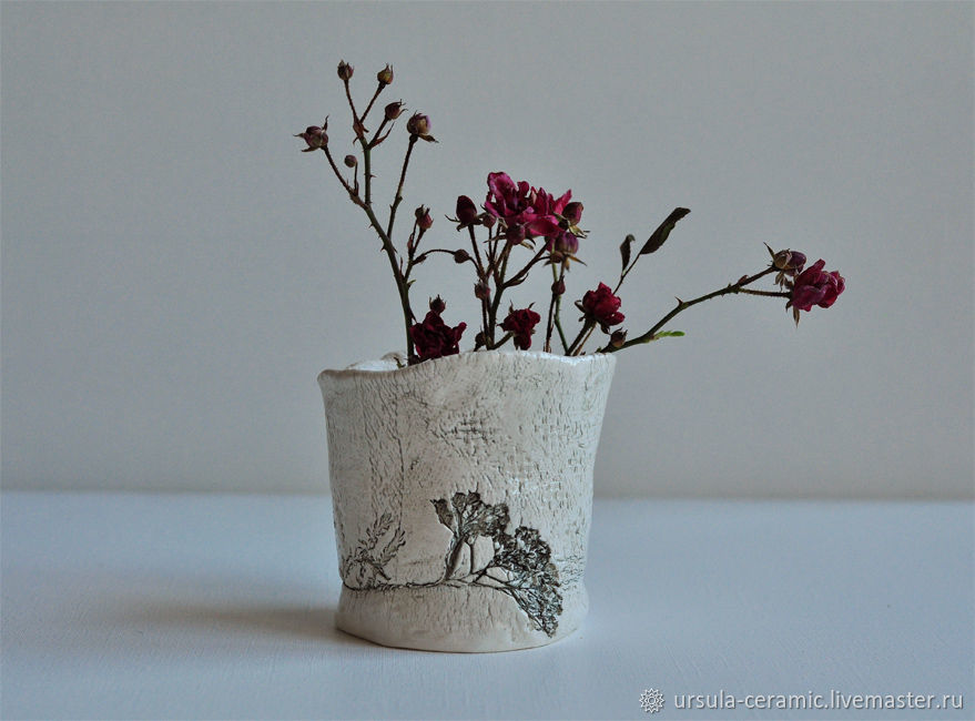 Керамическая вазочка для цветов, Вазы, Москва,  Фото №1