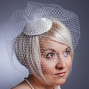 "Аксессуары handmade. Livemaster - original item Wedding hat ""Mar"". Hat for the bride. The veil. Handmade."