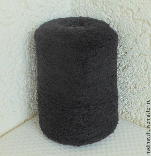 Вязание ручной работы. Ярмарка Мастеров - ручная работа. Купить Пряжа букле  черная. Handmade. Пряжа, пряжа для вязания
