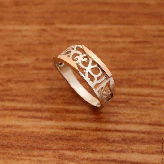 Кольца ручной работы. Ярмарка Мастеров - ручная работа. Купить Серебряное кольцо Мираж с золотыми накладками, серебро 925 пробы. Handmade.