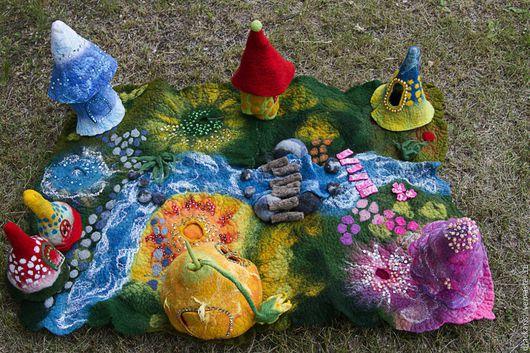 Вальдорфская игрушка ручной работы. Ярмарка Мастеров - ручная работа. Купить Супер скидка!!! Войлочный ландшафт. Handmade.