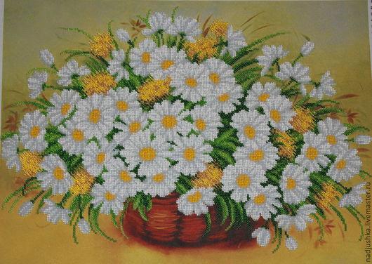 Картины цветов ручной работы. Ярмарка Мастеров - ручная работа. Купить ромашки. Handmade. Белый, цветы, подарок девушке