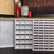 Органайзеры ручной работы. Ярмарка Мастеров - ручная работа Планшет-органайзер для хранения украшений. Handmade.