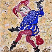 """Картины и панно ручной работы. Ярмарка Мастеров - ручная работа Декоративное панно """" Джокер  """". Handmade."""