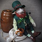 """Куклы и игрушки ручной работы. Ярмарка Мастеров - ручная работа """"Лепрекон""""(1)- авторская текстильная кукла. Handmade."""