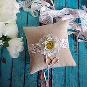 Свадебный салон ручной работы. Ярмарка Мастеров - ручная работа Подушечка для колец свадебная. Handmade.
