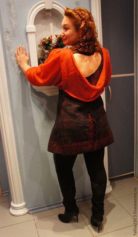 Кофты и свитера ручной работы. Ярмарка Мастеров - ручная работа. Купить Не рыжий я, а золотой.. Handmade. Темно-серый