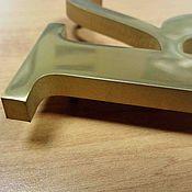 Дизайн и реклама ручной работы. Ярмарка Мастеров - ручная работа Буквы из нержавеющего металла в нитрид титане. Handmade.