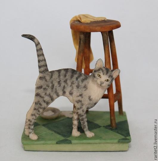 Винтажные предметы интерьера. Ярмарка Мастеров - ручная работа. Купить Кот миска чашка кошка этажерка Шотландия 83г N1. Handmade.