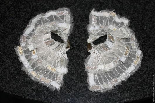 Варежки, митенки, перчатки ручной работы. Ярмарка Мастеров - ручная работа. Купить Манжеты из натуральной кожи и органзы Handmade. Handmade.