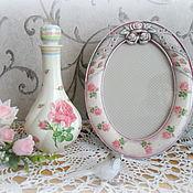 Для дома и интерьера ручной работы. Ярмарка Мастеров - ручная работа Комплект для туалетного столика ваза+фоторамка Роза. Handmade.