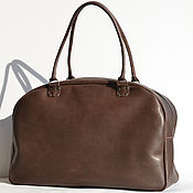 Сумки и аксессуары handmade. Livemaster - original item Large handmade bag of real thick leather art TRAVEL. Handmade.
