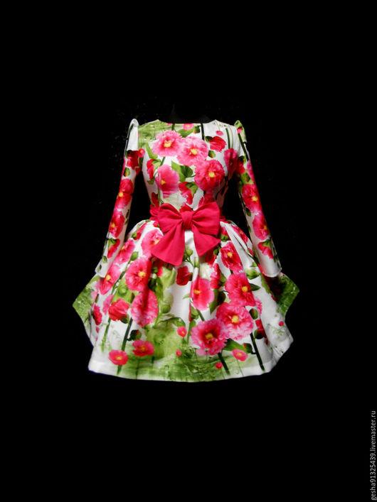 """Платья ручной работы. Ярмарка Мастеров - ручная работа. Купить Платье """"Цветение пиона"""". Handmade. Комбинированный, красивое платье в цветок"""
