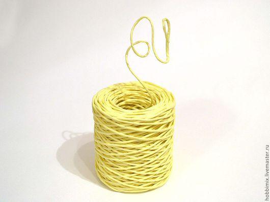 Упаковка ручной работы. Ярмарка Мастеров - ручная работа. Купить Проволока в бумажной обмотке светло-желтая. Handmade. Лимонный