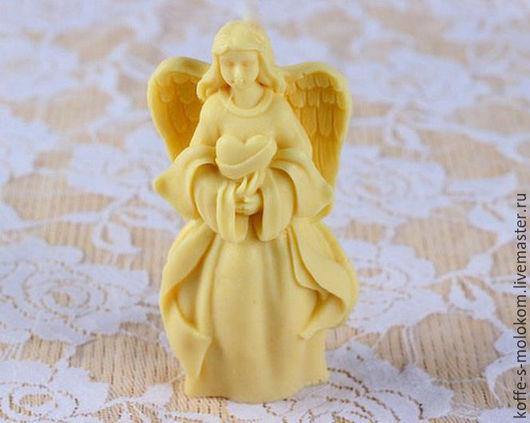 Материалы для косметики ручной работы. Ярмарка Мастеров - ручная работа. Купить Силиконовая форма для мыла Ангел с сердцем в руках. Handmade.
