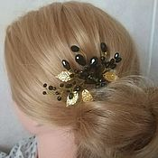 Украшения handmade. Livemaster - original item Hairpin: The ornament for the hair. Hairpin Black sun.. Handmade.