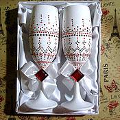 Свадебный салон ручной работы. Ярмарка Мастеров - ручная работа Бокалы. Handmade.