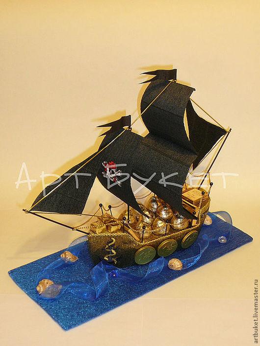 Кулинарные сувениры ручной работы. Ярмарка Мастеров - ручная работа. Купить Пиратский кораблик. Handmade. Черный, сладкий подарок