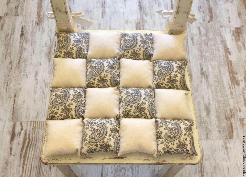 Подушки на стулья в стиле прованс