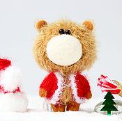Куклы и игрушки ручной работы. Ярмарка Мастеров - ручная работа Дед Мороз - Миниатюрный мишка - подарок!. Handmade.