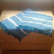 Для дома и интерьера handmade. Livemaster - original item knitted turquoise rug
