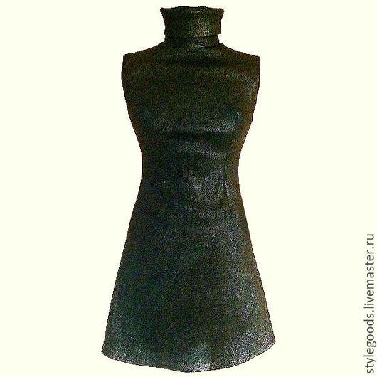 Платья ручной работы. Ярмарка Мастеров - ручная работа. Купить Черное платье из бандажного трикотажа. Handmade. Черный, трикотажное платье