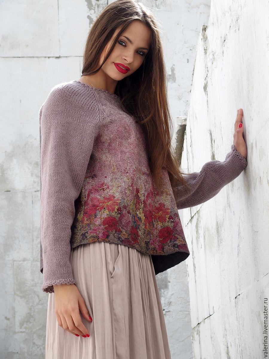 Красивый женский свитер реглан доставка