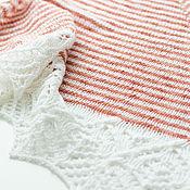 Свадебный салон ручной работы. Ярмарка Мастеров - ручная работа Шаль полосатая с белой каймой. Handmade.