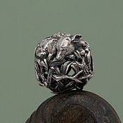 "Украшения handmade. Livemaster - original item Silver bead ""Forest prince"". Handmade."