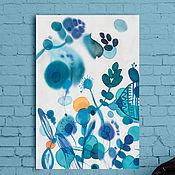 Картины и панно ручной работы. Ярмарка Мастеров - ручная работа Жизнь после дождя. Батик - панно на шелке.. Handmade.