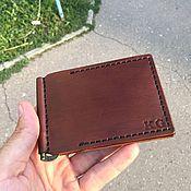 Зажимы ручной работы. Ярмарка Мастеров - ручная работа Зажим для денег, коричневый. Handmade.
