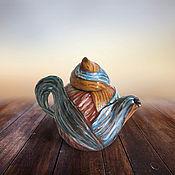 """Посуда ручной работы. Ярмарка Мастеров - ручная работа Чайник """"Клубочек"""". Handmade."""