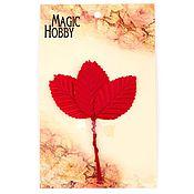 Материалы для творчества handmade. Livemaster - original item Leaves decorative art, 10 PCs, black. red. Handmade.