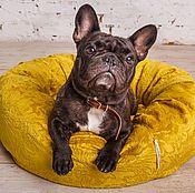 """Для домашних животных, ручной работы. Ярмарка Мастеров - ручная работа Лежанка-пончик """"Уют"""" желтая. Handmade."""