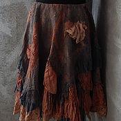 """Одежда ручной работы. Ярмарка Мастеров - ручная работа Авторская валяная юбка """"Панчали"""" (нуно-войлок, бохо-стиль). Handmade."""