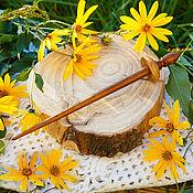 Материалы для творчества handmade. Livemaster - original item Tibetan support Spindle for spinning Siberian cherry Wood#B34. Handmade.