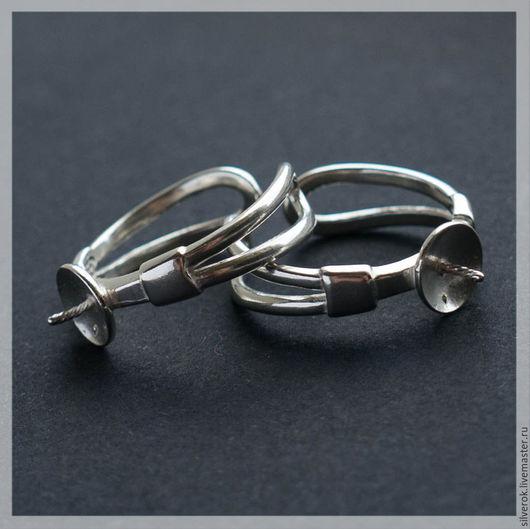 Для украшений ручной работы. Ярмарка Мастеров - ручная работа. Купить Основа для кольца с тарелочкой регулируемая серебро 925 проба. Handmade.