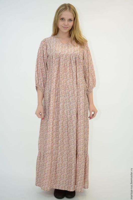 """Платья ручной работы. Ярмарка Мастеров - ручная работа. Купить Платье """"Нежность"""". Handmade. Бледно-розовый, свободное платье"""