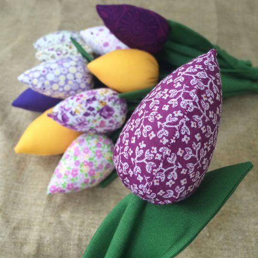 Цветы ручной работы. Ярмарка Мастеров - ручная работа. Купить Текстильные тюльпаны в технике Тильда.. Handmade. Тюльпаны, цветы из ткани