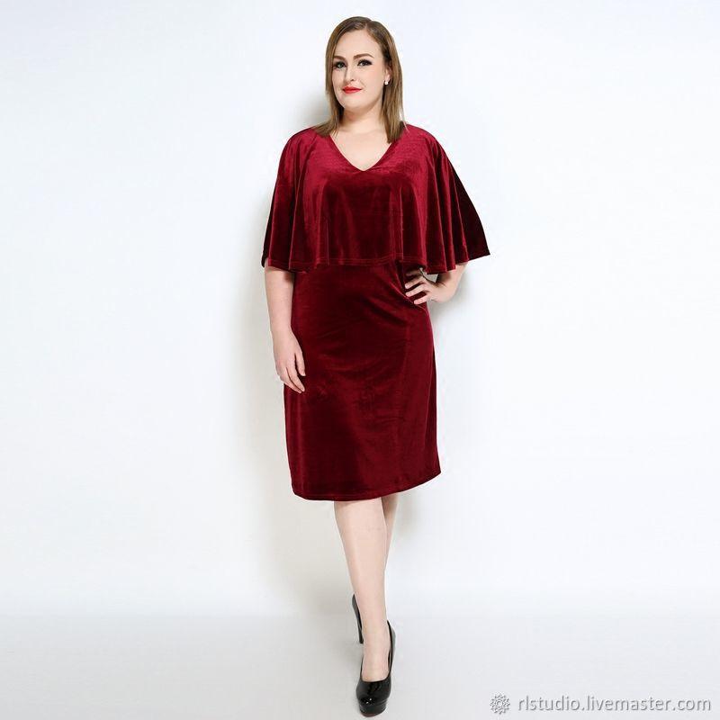 90d71c150d7 Dresses handmade. Livemaster - handmade. Buy Plus Size Wine Red Velvet  Party Dress.