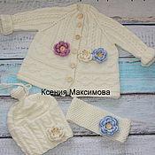 Работы для детей, handmade. Livemaster - original item cardigan Biscuit. Handmade.